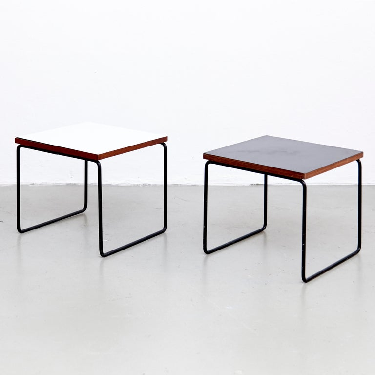 Set of two side tables designed by Pierre Guariche.