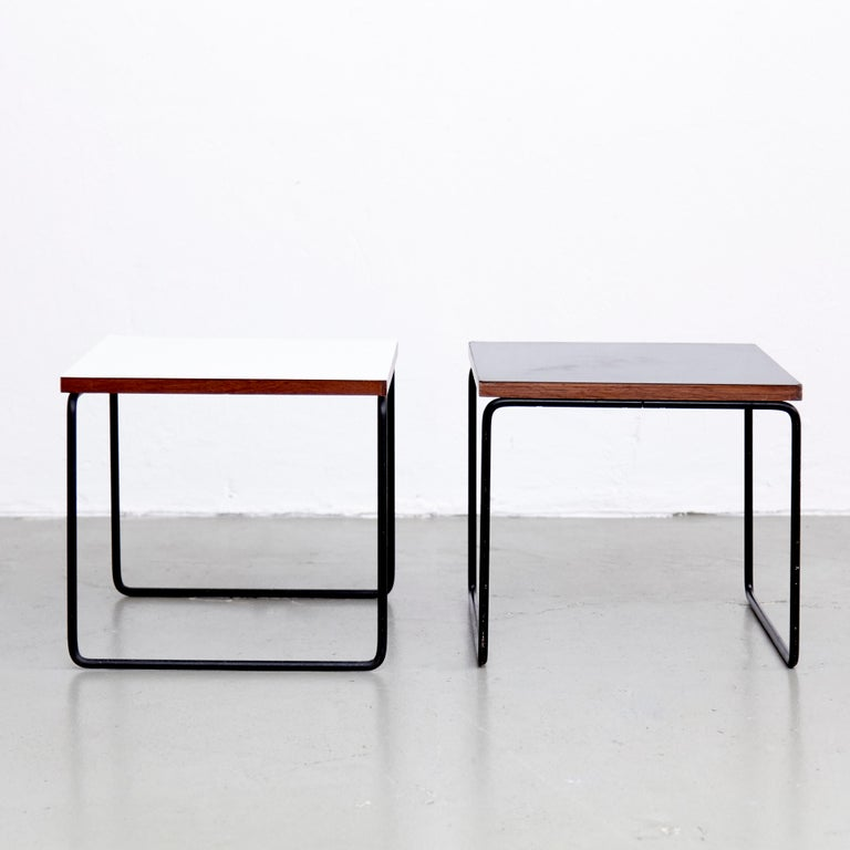 Mid-Century Modern Set of Two Pierre Guariche Side Table for Steiner, circa 1950