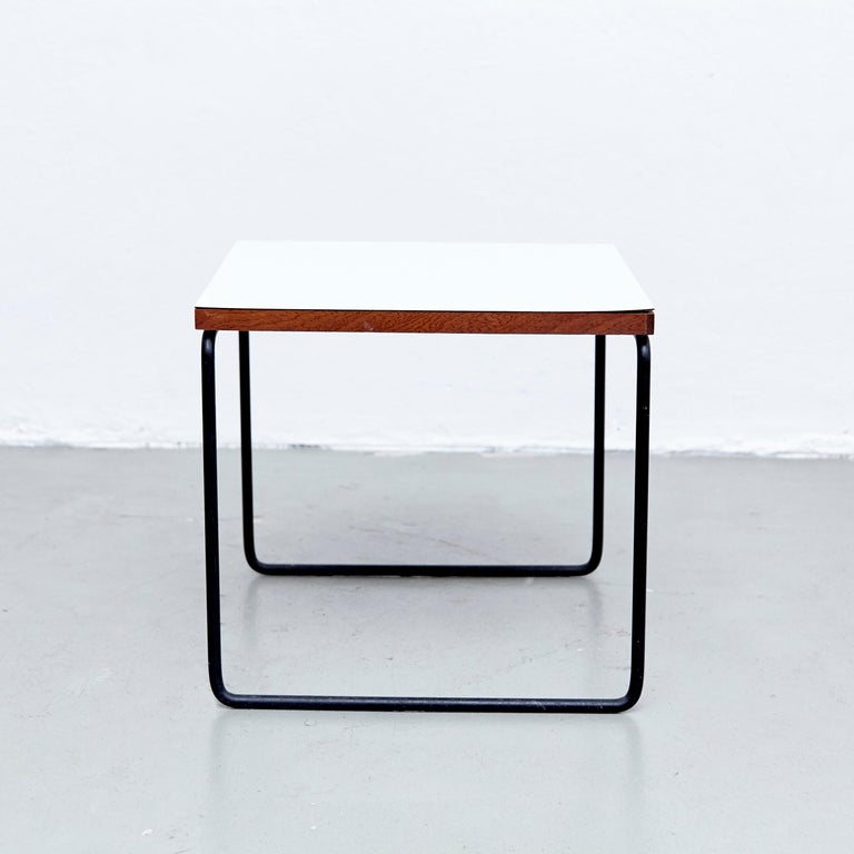 French Set of Two Pierre Guariche Side Table for Steiner, circa 1950