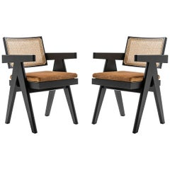 Set of Two Pierre Jeanneret 051 Capitol Complex Office Chair by Cassina