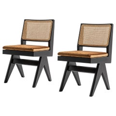 Set of Two Pierre Jeanneret 055 Capitol Complex Chair by Cassina