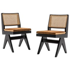 Set of Two Pierre Jeanneret 055 Capitol Complex Chairs