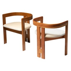 "Set of Two ""Pigreco"" Chairs by Tobia Scarpa for Gavina"