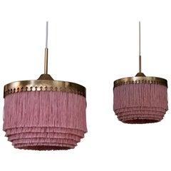Set of Two Pink Hans-Agne Jakobsson Ceiling Lamp Model T601/M, 1960s