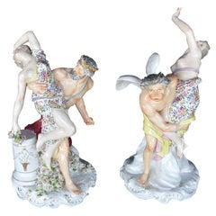 Set of Two Porcelain Sculptures