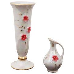 Set of Two Porcelain Vases