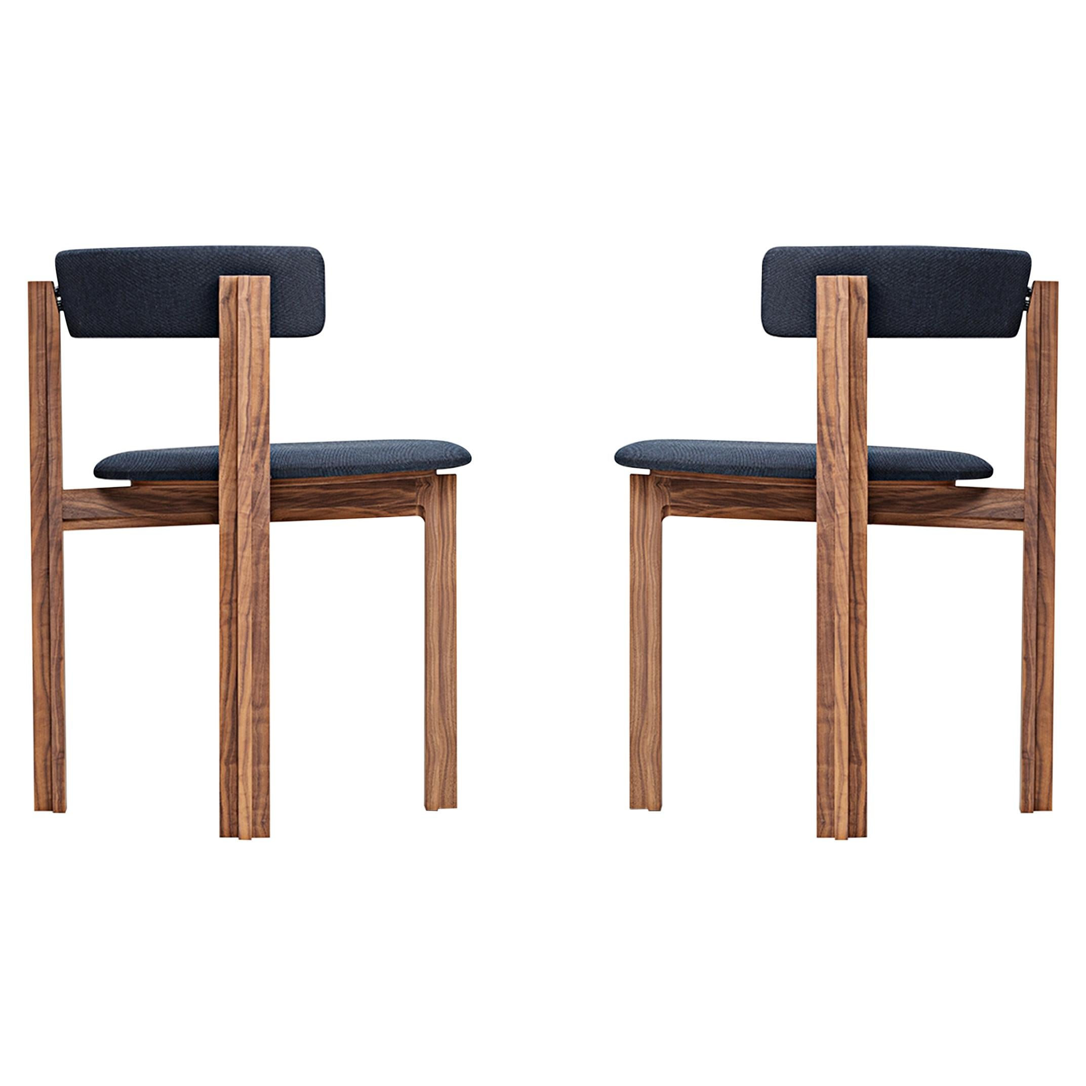 Set of Two Principal Dining Wood Chairs Designed by Bodil Kjær