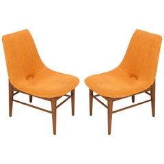 Set of Two Rare 20th Century Orange Shell Chairs, H. Lachert, 1960s