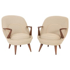 Set of Two Rare Armchairs, Jedrachowicz Racinowski, 345 Type, 1950s, Poland
