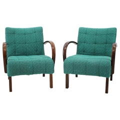 Set of Two Rare Catalog Armchairs, Thonet, 1940s