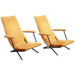 Set of Two Reclining Lounge, Easy Chairs, 1950s Germany