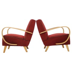 Set of Two Retro Armchairs by Jindřich Halabala, 1950's