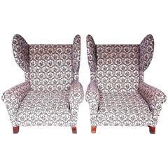 Set of Two Retro Wing Chairs, 1960s
