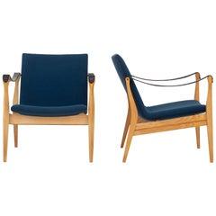 Set of Two Safari Chairs by Ebbe & Karen Clemmesen