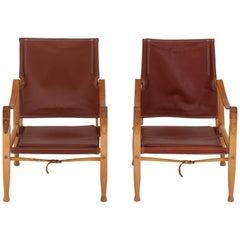Set von Zwei Safari Stühle von Kaare Klint