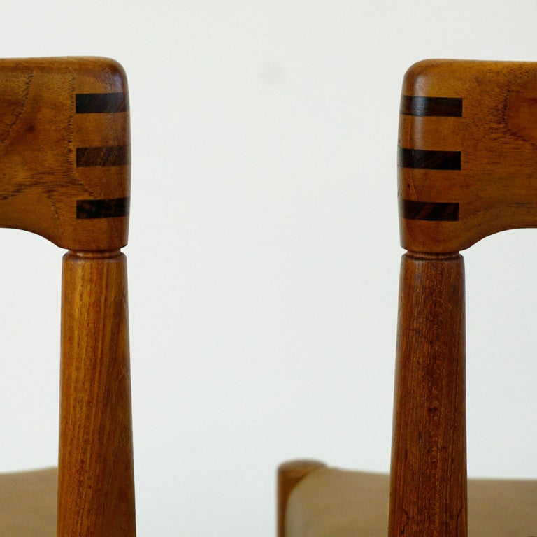 Set of Two Scandinavian Modern Teak Dining Chairs by H. W. Klein for Bramin For Sale 4