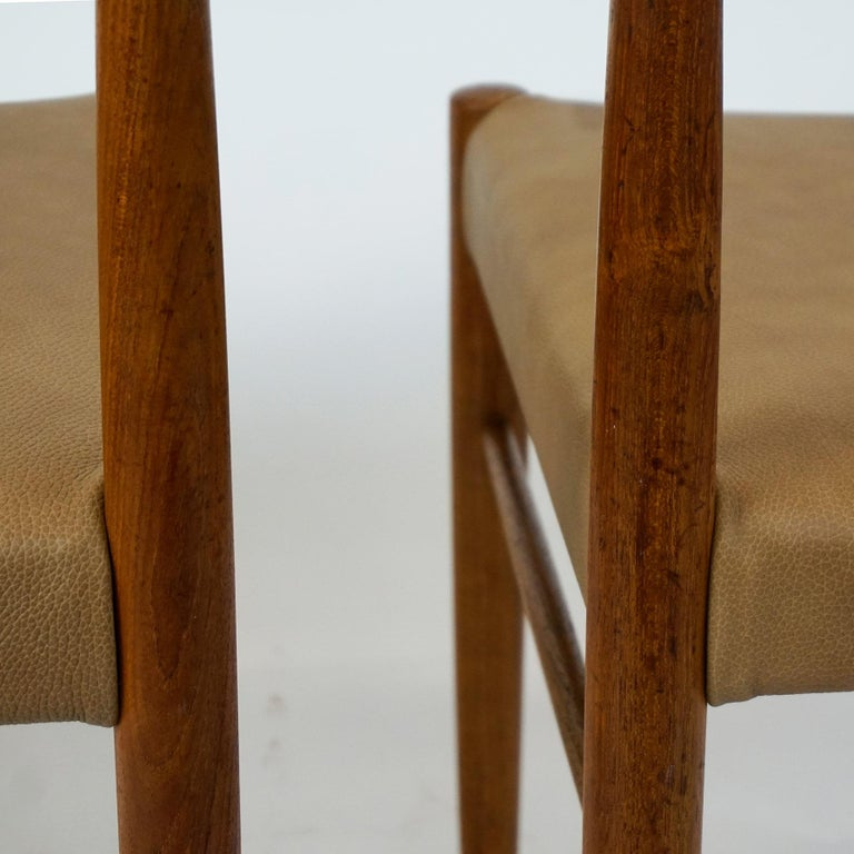 Set of Two Scandinavian Modern Teak Dining Chairs by H. W. Klein for Bramin For Sale 5
