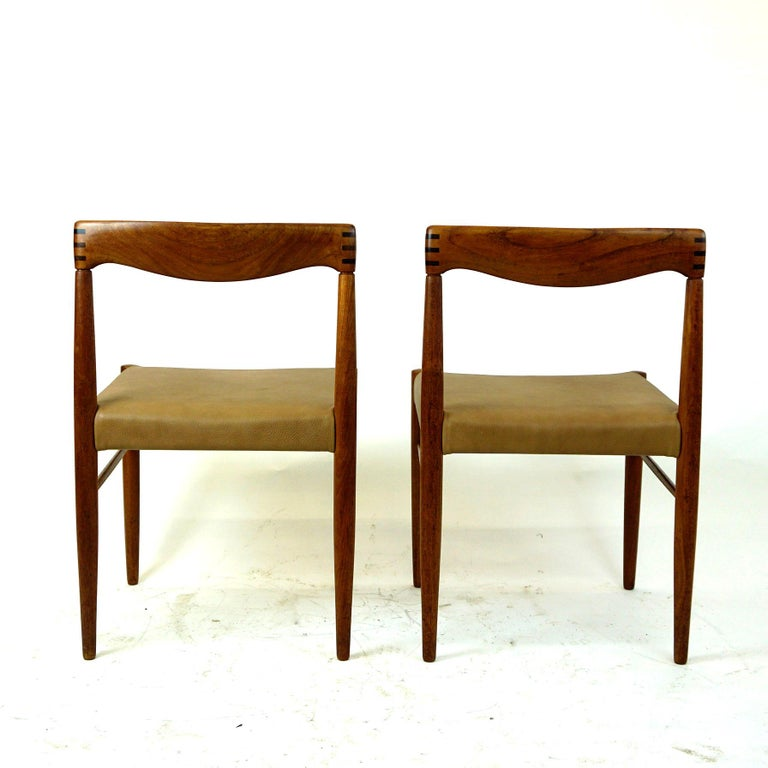 Danish Set of Two Scandinavian Modern Teak Dining Chairs by H. W. Klein for Bramin For Sale