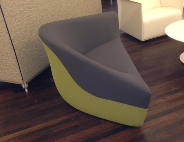 European Walter Knoll Set of Two Seating Stones in Fabric For Sale