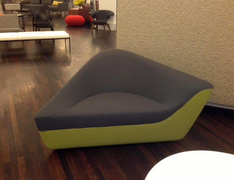 Walter Knoll Set of Two Seating Stones in Fabric In Good Condition For Sale In New York, NY