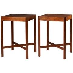 Set of Two Side Tables Designed by Stig Lönngren for Hi-Gruppen, Sweden, 1969