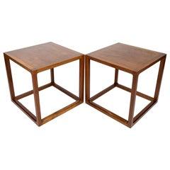 Set of Two Side Tables in Teak Designed by Johannes Andersen, 1960s