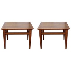 Set of Two Side Tables or Night Stands by Milo Baughman and Thayer Coggin