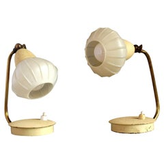 Set of Two Small Cocoon Side Table Lamps from Szarvasi, Hungary, 1960s