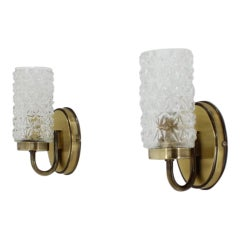 Set of Two Small German Wall Lamps, 1980