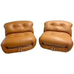 Set of Two Soriana Lounge Chairs, Design Tobia Scarpa for Cassina