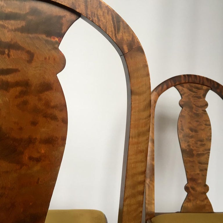 Set of Two Swedish Satin Birch Chairs, 1910s For Sale 4