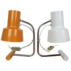 Set of Two Table Lamp Designed by Josef Hůrka for Napako, 1970s