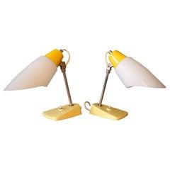 Set of Two Table Lamp/Kamenický Šenov, 1960s