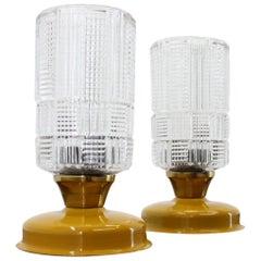Set of Two Table Lamp/Kamenický Šenov, Preciosa, 1960s