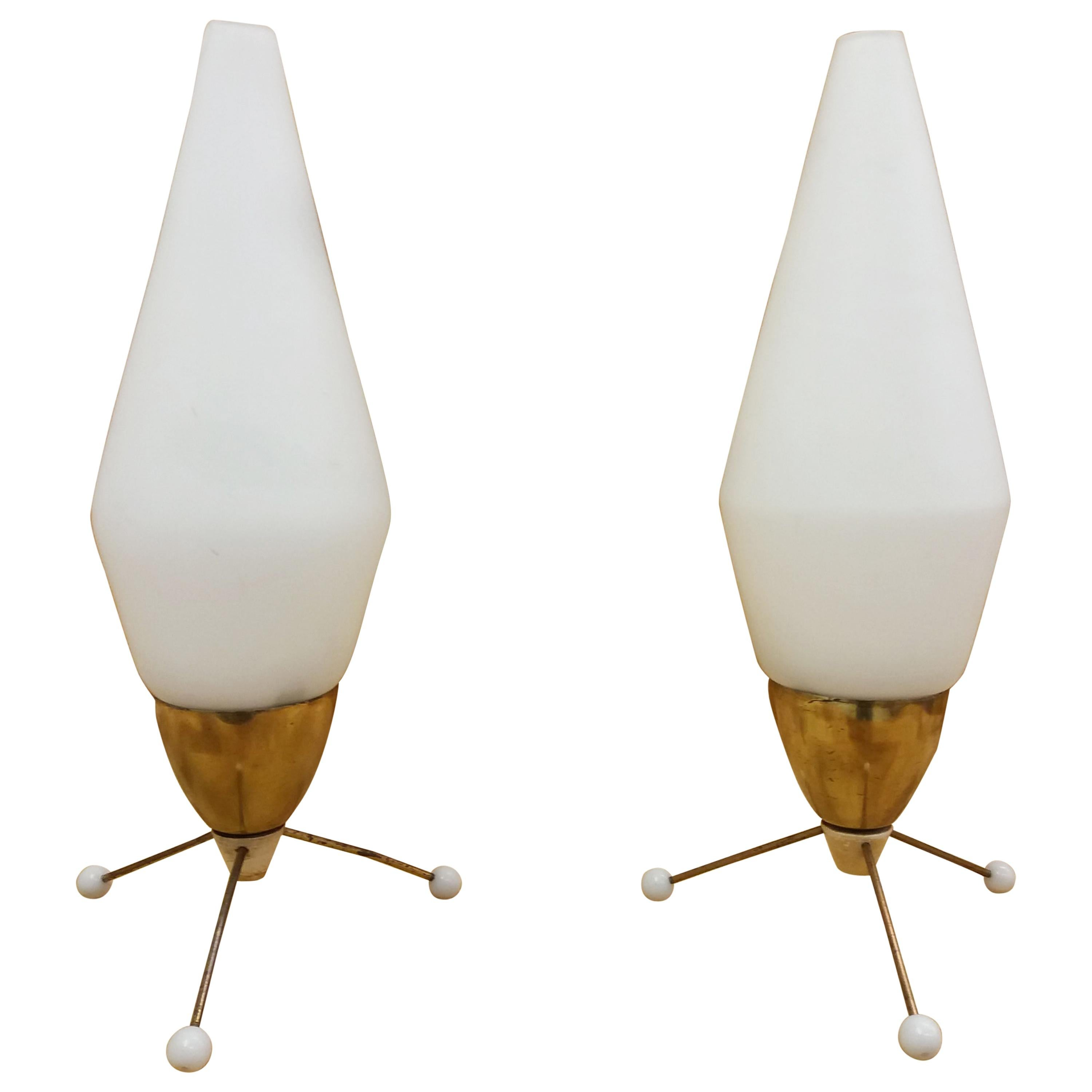 Set of Two Table Lamp, Rocket, 1960s