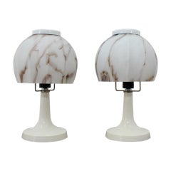 Set of Two Table Lamps, 1970s
