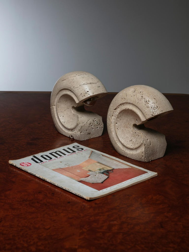 Italian Set of Two Table Lamps by Giuliano Cesari for Sormani For Sale