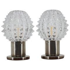 Set of Two Table Lamps/ Kamenický Šenov, 1960s