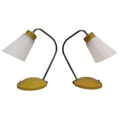 Set of Two Table Lamps/ Lidokov Boskovice, Czechoslovakia