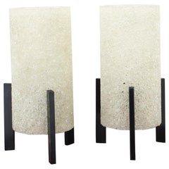 """Set of Two Table Lamps """"Racket"""", 1980"""