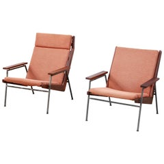 Set of Two Teak Rob Parry Lotus Armchairs for Gelderland, Dutch Design, 1950s
