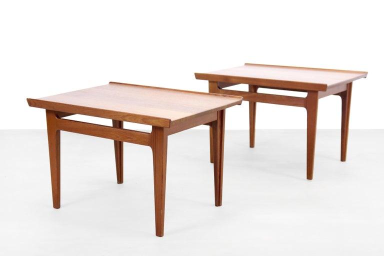 Danish Set of Two Teak Side Tables by Finn Juhl for France and Son Model 535