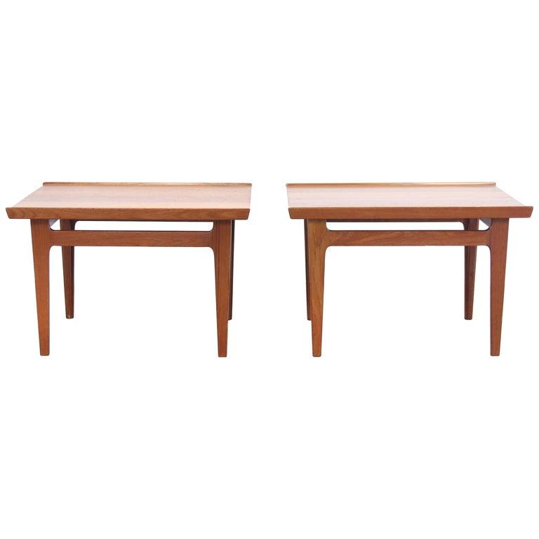 Set of Two Teak Side Tables by Finn Juhl for France and Son Model 535