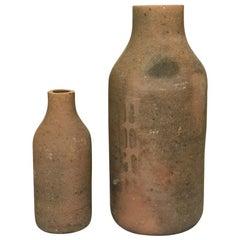 Set of Two Terracotta Vessels