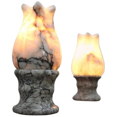 Set of Two Unusual Stone Table Lamps, 1960s