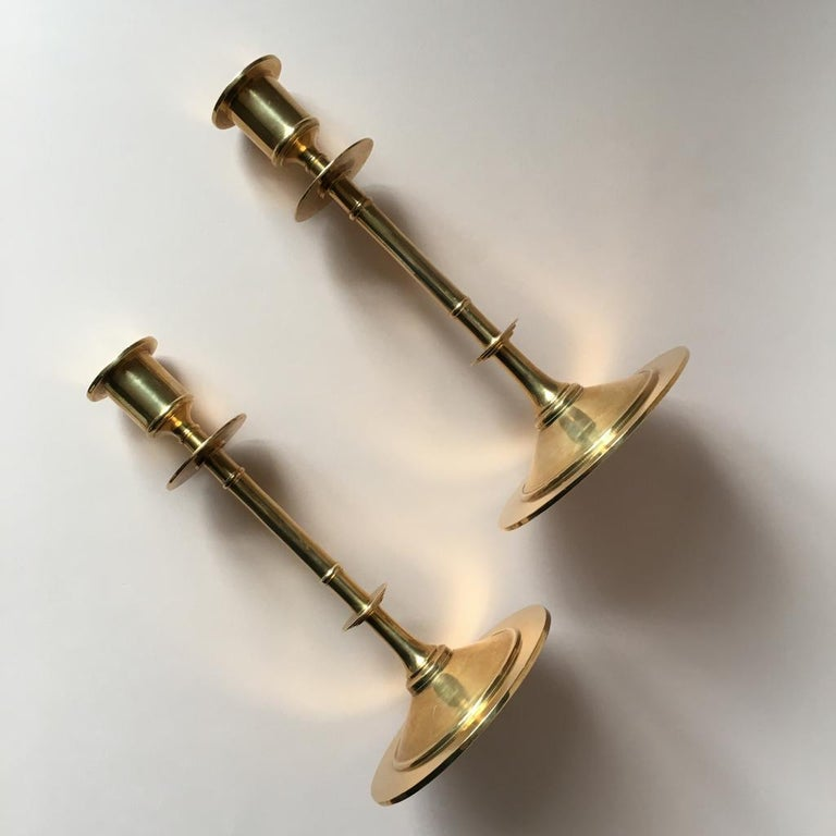 These Swedish candleholders are numbered 119A.