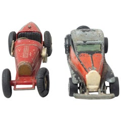 Set of Two Vintage Bugatti MatchBox Car Toys, circa 1960
