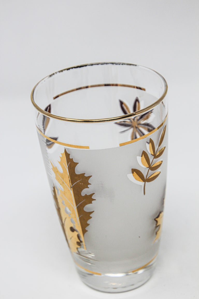 Set of Two Vintage Cocktail Glasses by Libbey For Sale 5