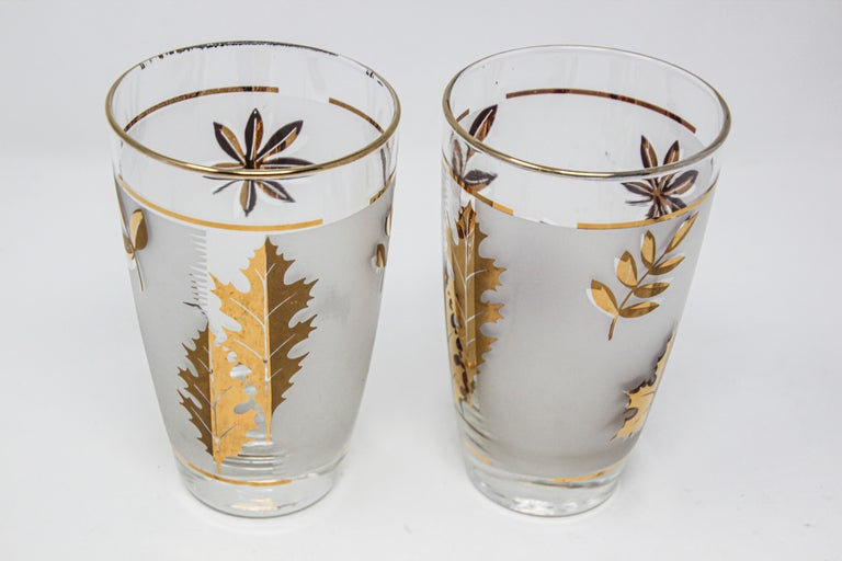 Mid-Century Modern Set of Two Vintage Cocktail Glasses by Libbey For Sale