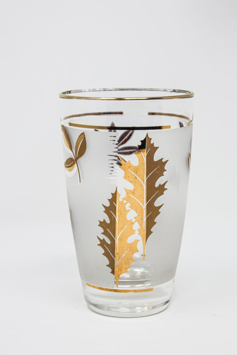 Set of Two Vintage Cocktail Glasses by Libbey In Good Condition For Sale In North Hollywood, CA